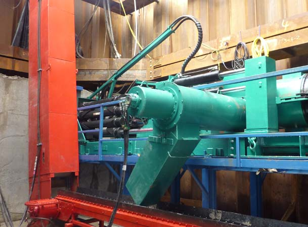 Microtunnelling Auger extracted spoil to the Bucket Elevator