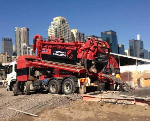 Barrangaroo Microtunnelling Pezzimenti Vacuum Truck Spoil Removal