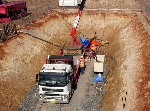 Oran park Pezzimenti Tunnelbore Site layout