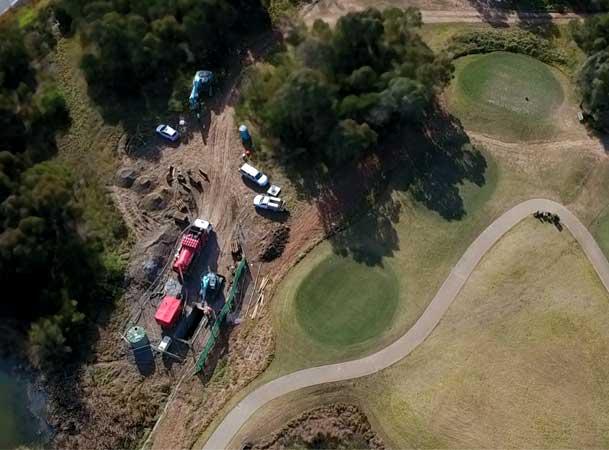 Rileys Creek Pezzimenti Microtunnelling Site Setup
