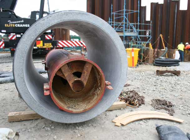 Auger Boring Spoil Extraction