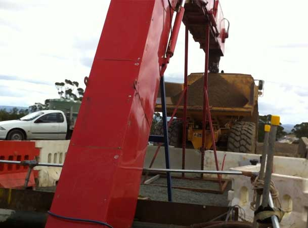 Auger Boring Spoil Extraction Microtunneling Bucket Elevator