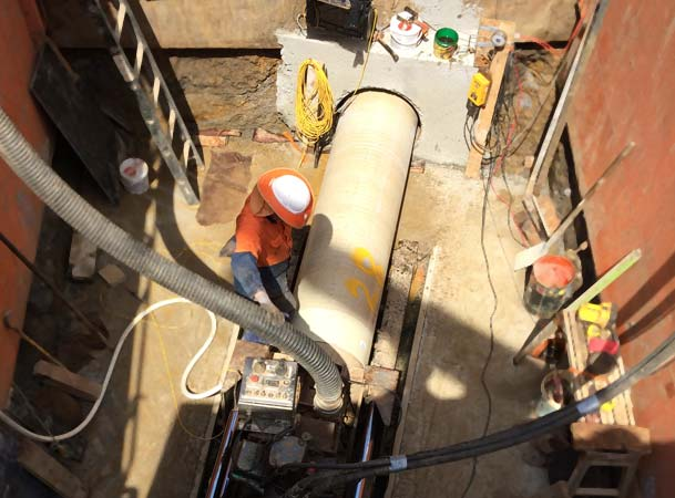 Microtunnelling Pipejack GRP Pipe