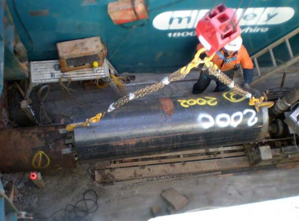 Microtunneling Pipejacking load steel jacking pipe ready for icrotunneling
