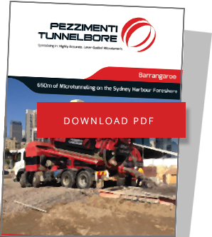Barrangaroo Microtunnelling Pezzimenti Downoad PDF of Project