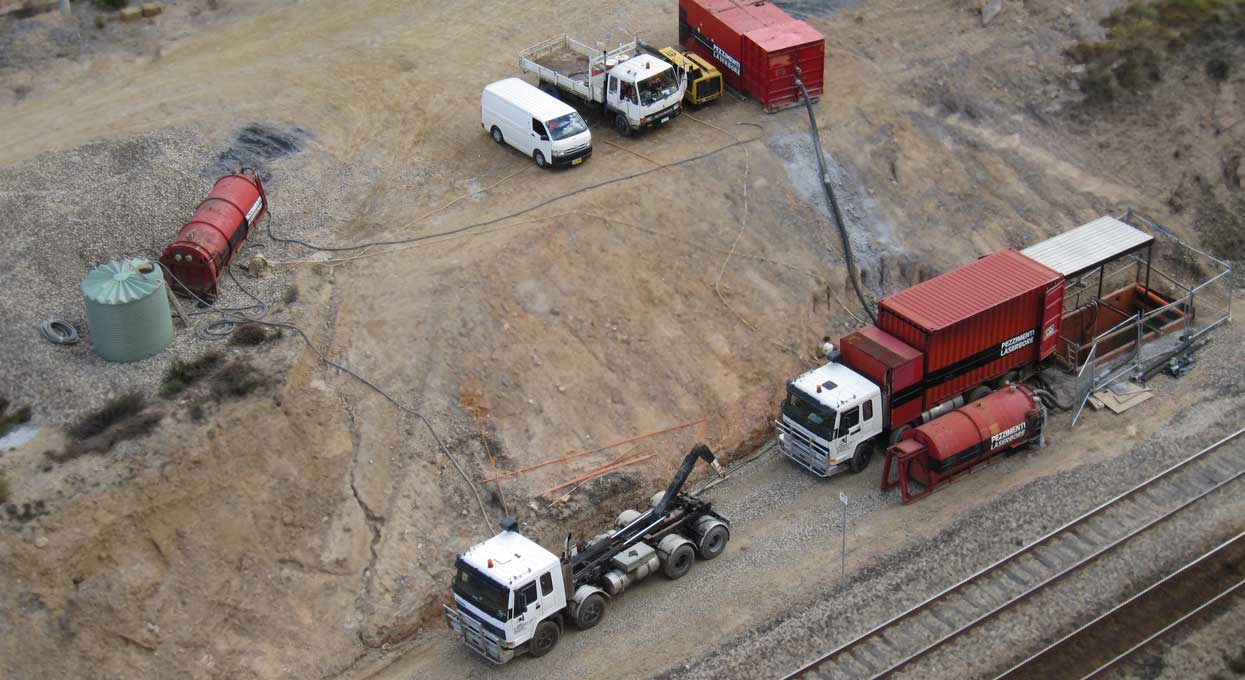 Marrangaroo Microtunneling Pezzimenti Site Setup Next