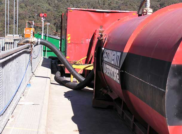 Tallowa Dam Microtunneling Pezzimenti Setup at top of the Dam