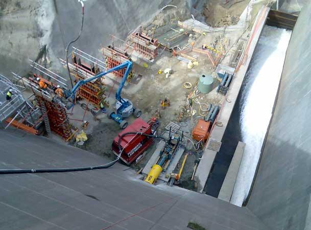Tallow Dam Microtunneling Pezzimenti Site Layout