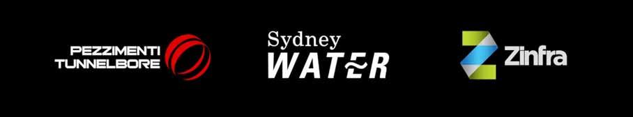 Pezzimenti Tunnelbore Logo Sydney Water Logo Zinfra Logo