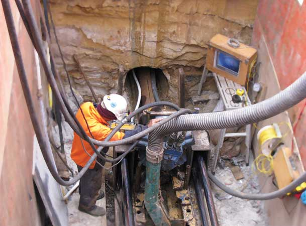Blackheath Microtunnelling Pezzimenti Tunnelbore microtunnelling in progress