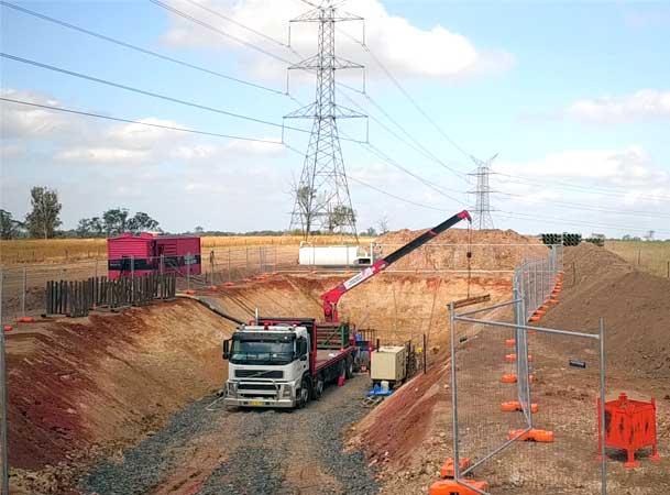 Pezzimenti Oran Park Microtunnelling Site Setup