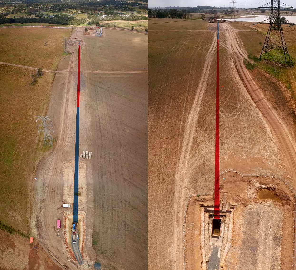 Oran Park Pezzimenti Tunnelbore Intercept Bore from each shaft\