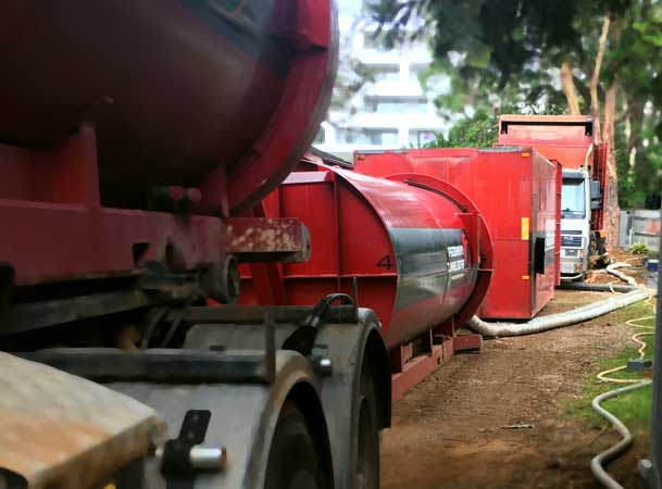 Macquarie Park Pezzimenti Tunnelbore Microtunnelling Vacuum Unit and Power Packs