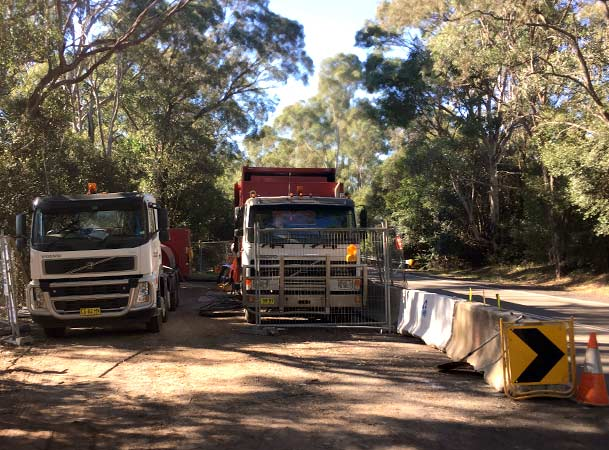 Menangle Pezzimenti Tunnelbore Site Setup Next to the Road