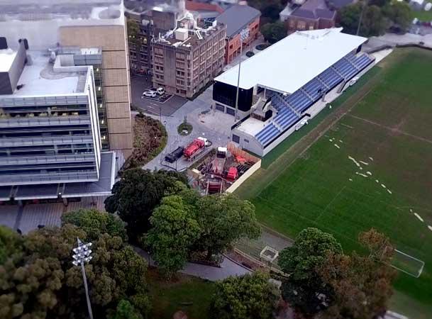 Sydney University Pezzimenti Tunnelbore Microtunnelling Site Setup