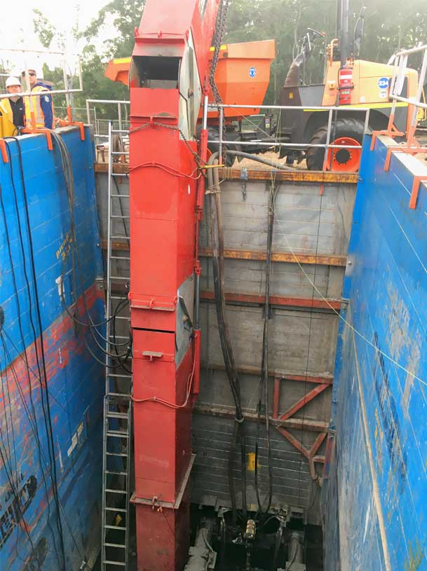 Cherrybrook Microtunnelling Bucket Elevator With Auger