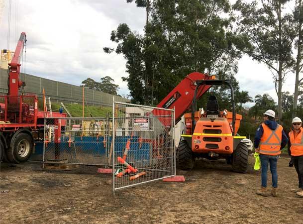 Cherrybrook Microtunnelling Pezzimenti Site Setup
