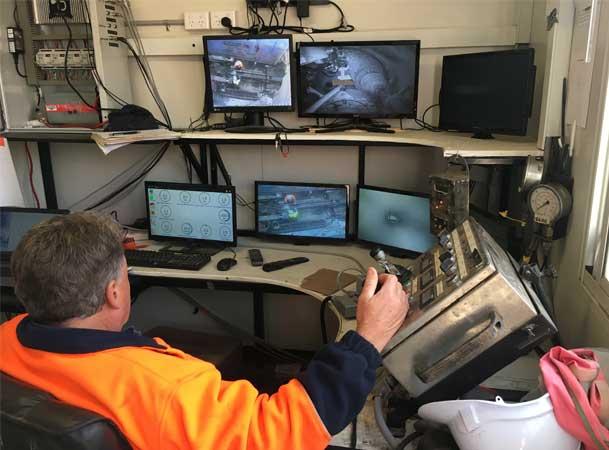 Cherrybrook Microtunnelling Pezzimenti CCTV Monitor