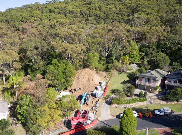 Mount Ousley Microtunnelling Pezzimenti Site Setup