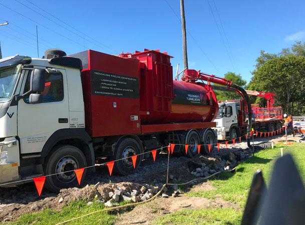 Wyee Microtunnelling Pezzimenti Site Setup Vacuum Truck