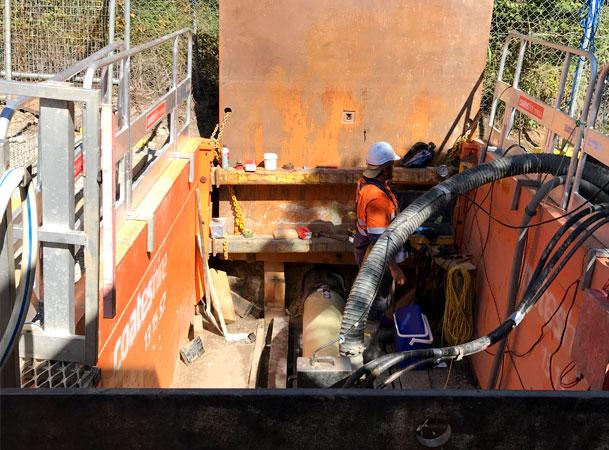 Wyee Microtunnelling Pezzimenti Shaft Setup