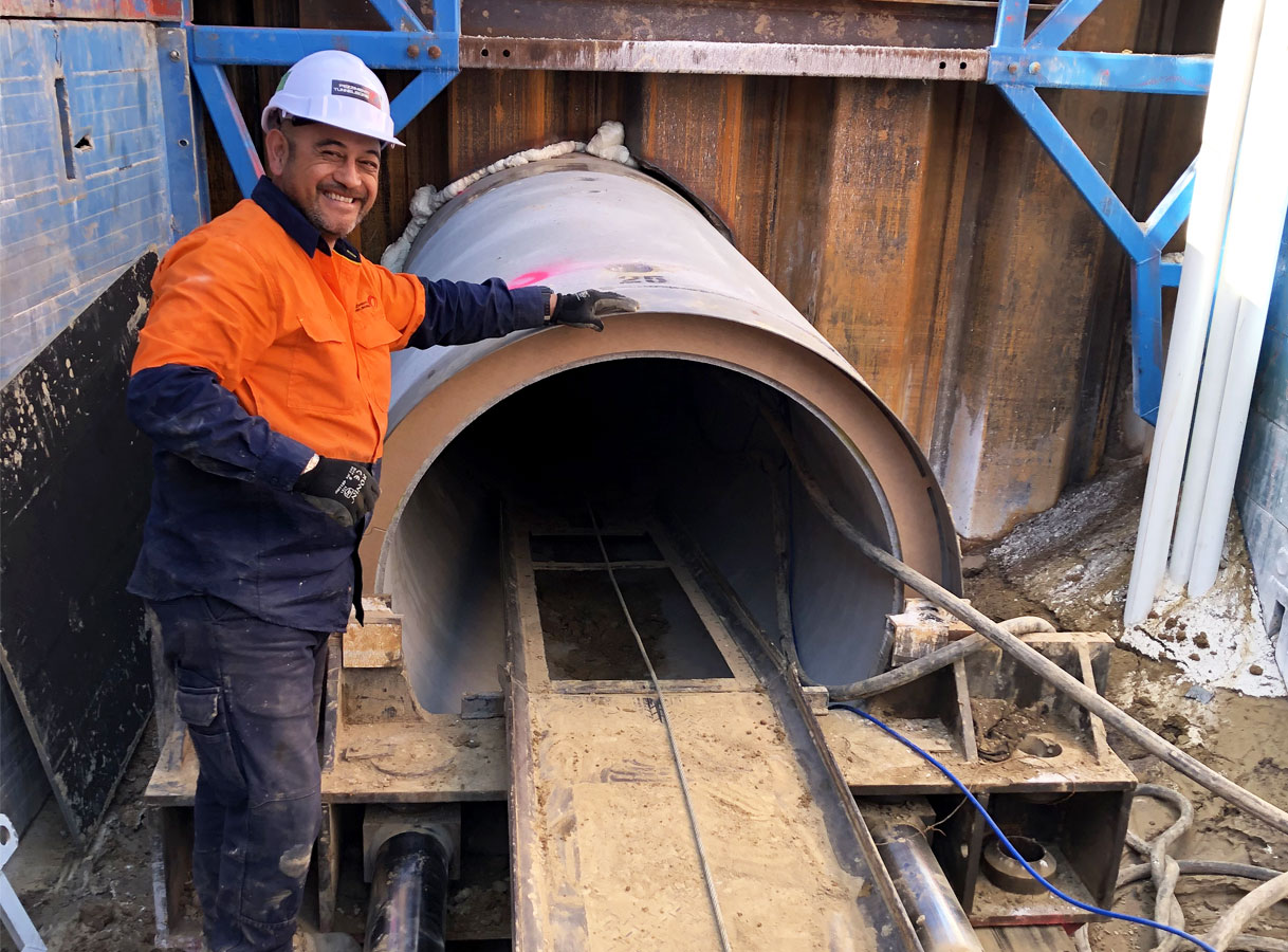 100000m Microtunnelled by NSW Crews
