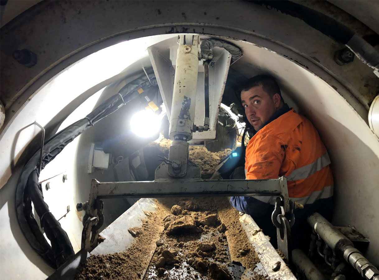 Penrith Open Faced Shield Microtunnelling Piloted Shield