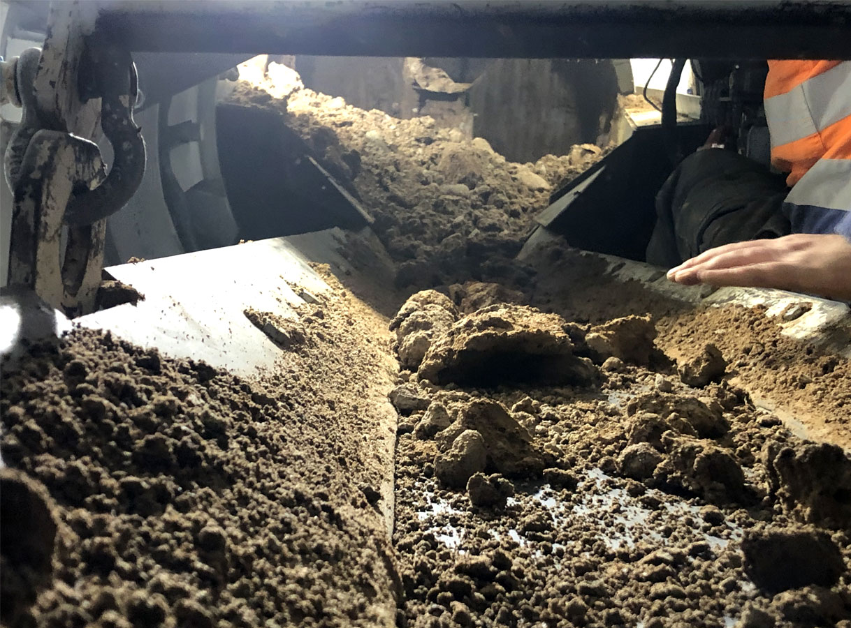 Penrith Open Faced Shield Microtunnelling Spoil removal