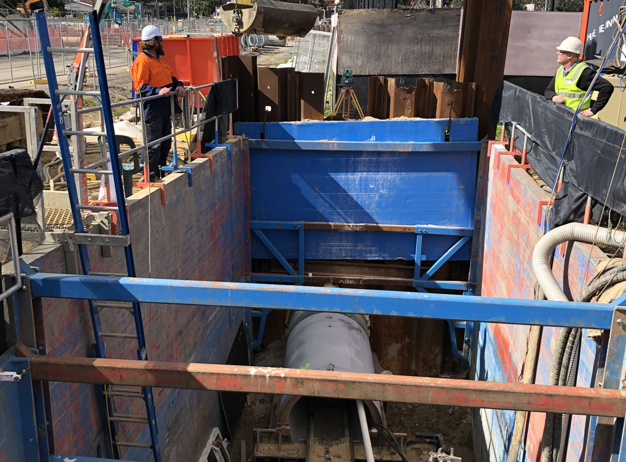 Penrith Open Faced Shield Microtunnelling Shaft